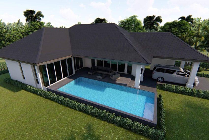 Plan Villa De Luxe Avec Piscine : Villa de luxe avec piscine et chambres off plan